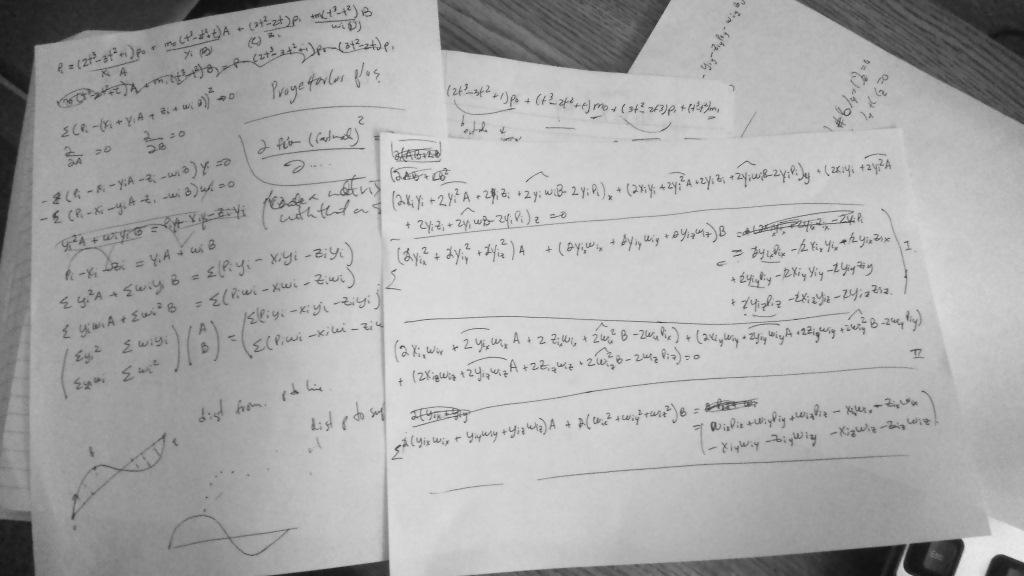 hand written equiations