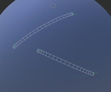 Before tangent estimation: blue line is user stroke